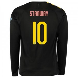 Manchester City Cup Away Shirt 2019-20 - Long Sleeve with Stanway 10 printing