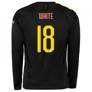 Manchester City Cup Away Shirt 2019-20 - Long Sleeve with WHITE 18 printing