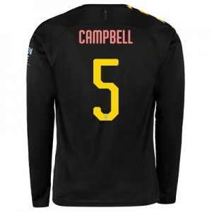 Manchester City Cup Away Shirt 2019-20 - Long Sleeve with Campbell 5 printing