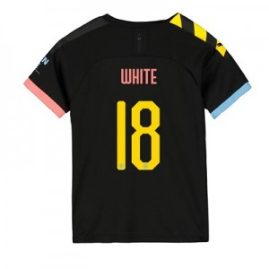 Manchester City Cup Away Shirt 2019-20 - Kids with White 18 printing