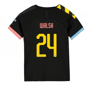 Manchester City Cup Away Shirt 2019-20 - Kids with Walsh 24 printing
