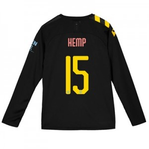 Manchester City Cup Away Shirt 2019-20 - Long Sleeve - Kids with Hemp 15 printing