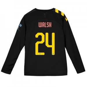 Manchester City Cup Away Shirt 2019-20 - Long Sleeve - Kids with Walsh 24 printing