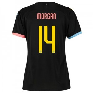 Manchester City Cup Away Shirt 2019-20 - Womens with Morgan 14 printing