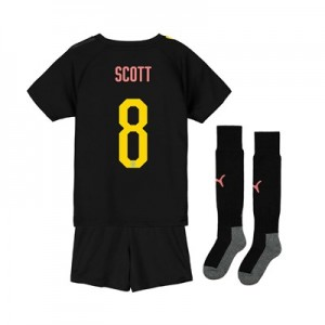 Manchester City Cup Away Mini Kit 2019-20 with Scott 8 printing