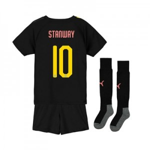 Manchester City Cup Away Mini Kit 2019-20 with Stanway 10 printing