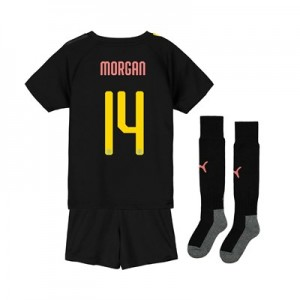 Manchester City Cup Away Mini Kit 2019-20 with Morgan 14 printing