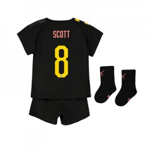 Manchester City Cup Away Baby Kit 2019-20 with Scott 8 printing