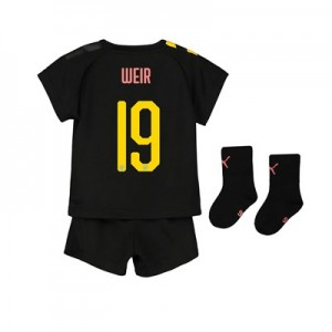 Manchester City Cup Away Baby Kit 2019-20 with Weir 19 printing