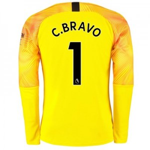 Manchester City Third Goalkeeper Shirt 2019-20 with C.Bravo 1 printing