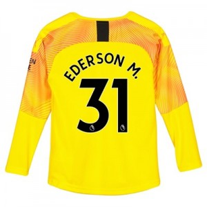 Manchester City Third Goalkeeper Shirt 2019-20 - Kids with Ederson M. 31 printing