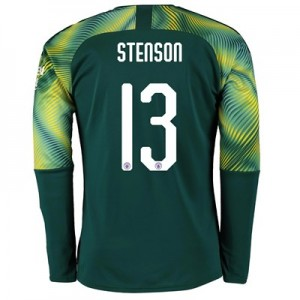 Manchester City Cup Home Goalkeeper Shirt 2019-20 with Stenson 13 printing