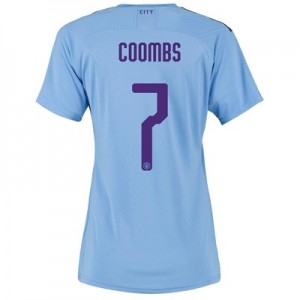 Manchester City Cup Authentic Home Shirt 2019-20 - Womens with Coombs 7 printing