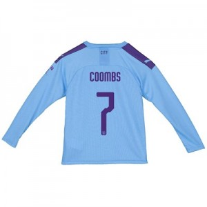 Manchester City Cup Home Shirt 2019-20 - Long Sleeve - Kids with Coombs 7 printing