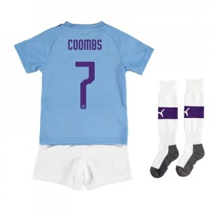 Manchester City Cup Home Mini Kit 2019-20 with Coombs 7 printing