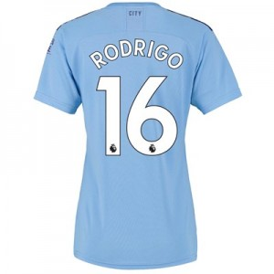 Manchester City Home Shirt 2019-20 - Womens with Rodrigo 16 printing