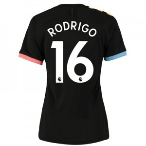 Manchester City Authentic Away Shirt 2019-20 - Womens with Rodrigo 16 printing