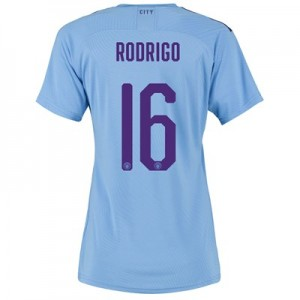 Manchester City Authentic Cup Home Shirt 2019-20 - Womens with Rodrigo 16 printing