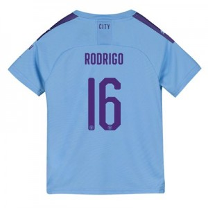 Manchester City Cup Home Shirt 2019-20 - Kids with Rodrigo 16 printing