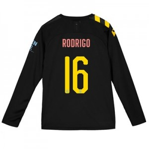 Manchester City Cup Away Shirt 2019-20 - Long Sleeve - Kids with Rodrigo 16 printing