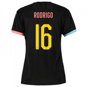 Manchester City Cup Away Shirt 2019-20 - Womens with Rodrigo 16 printing