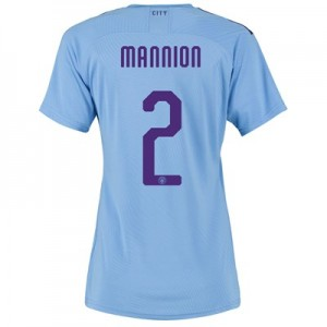 Manchester City Cup Authentic Home Shirt 2019-20 - Womens with Mannion 2 printing