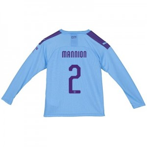 Manchester City Cup Home Shirt 2019-20 - Long Sleeve - Kids with Mannion 2 printing