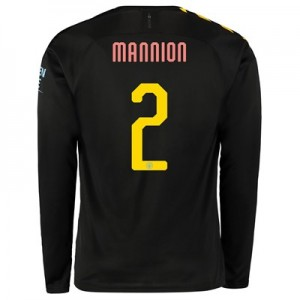 Manchester City Cup Away Shirt 2019-20 - Long Sleeve with Mannion 2 printing