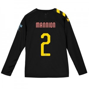 Manchester City Cup Away Shirt 2019-20 - Long Sleeve - Kids with Mannion 2 printing
