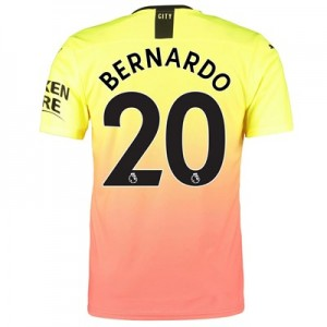 Manchester City Authentic Third Shirt 2019-20 with Bernardo 20 printing