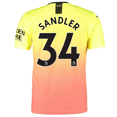 Manchester City Authentic Third Shirt 2019-20 with Sandler 34 printing