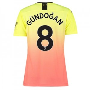Manchester City Authentic Third Shirt 2019-20 - Womens with Gündogan 8 printing