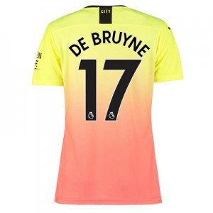 Manchester City Authentic Third Shirt 2019-20 - Womens with De Bruyne 17 printing