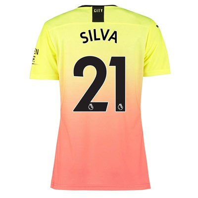 Manchester City Authentic Third Shirt 2019-20 - Womens with Silva 21 printing