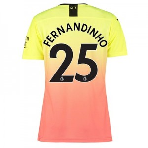 Manchester City Authentic Third Shirt 2019-20 - Womens with Fernandinho 25 printing