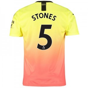 Manchester City Third Shirt 2019-20 with Stones 5 printing