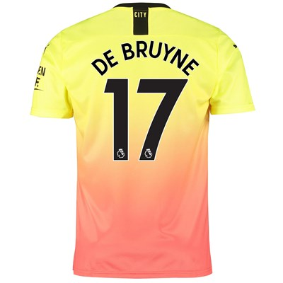Manchester City Third Shirt 2019-20 with De Bruyne 17 printing