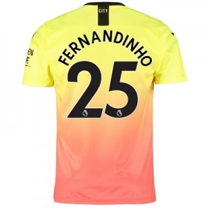 Manchester City Third Shirt 2019-20 with Fernandinho 25 printing