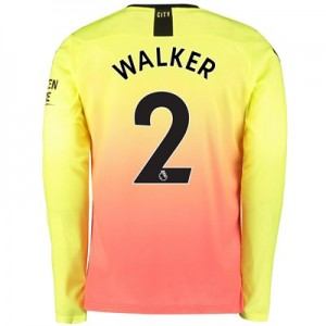 Manchester City Third Shirt 2019-20 - Long Sleeve with Walker 2 printing