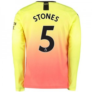 Manchester City Third Shirt 2019-20 - Long Sleeve with Stones 5 printing
