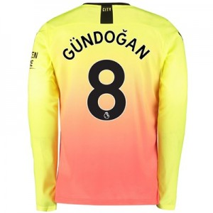 Manchester City Third Shirt 2019-20 - Long Sleeve with Gündogan 8 printing
