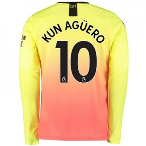 Manchester City Third Shirt 2019-20 - Long Sleeve with Kun Agüero  10 printing