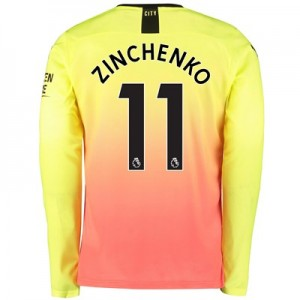 Manchester City Third Shirt 2019-20 - Long Sleeve with Zinchenko 11 printing