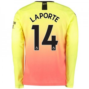 Manchester City Third Shirt 2019-20 - Long Sleeve with Laporte 14 printing