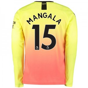 Manchester City Third Shirt 2019-20 - Long Sleeve with Mangala 15 printing