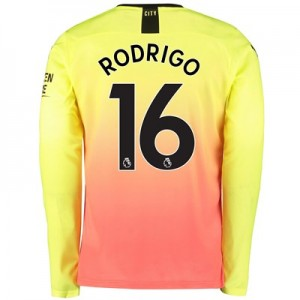 Manchester City Third Shirt 2019-20 - Long Sleeve with Rodrigo 16 printing