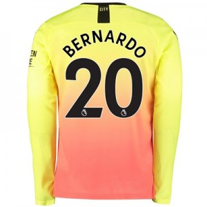 Manchester City Third Shirt 2019-20 - Long Sleeve with Bernardo 20 printing