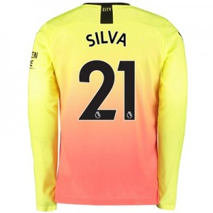 Manchester City Third Shirt 2019-20 - Long Sleeve with Silva 21 printing