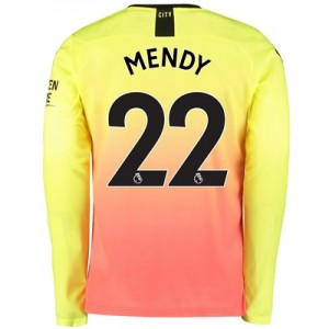 Manchester City Third Shirt 2019-20 - Long Sleeve with Mendy 22 printing