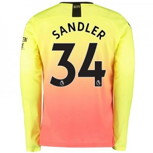 Manchester City Third Shirt 2019-20 - Long Sleeve with Sandler 34 printing